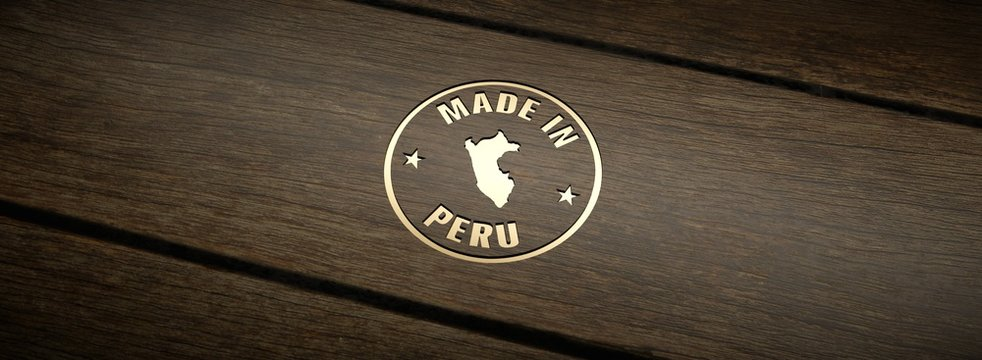 Stamp made in Peru, engraved in wood with gold inlays.