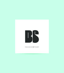 Fototapeta Letters B S logo icon vector for business card and corporate identity. obraz