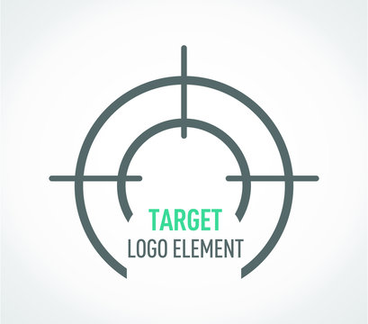 Target Logo template. Grey background. Target Vector illistrator