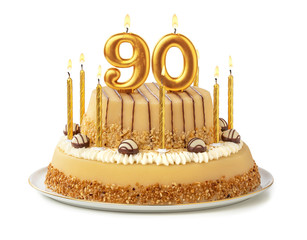 Festliche Torte mit goldenen Kerzen - Nummer 90