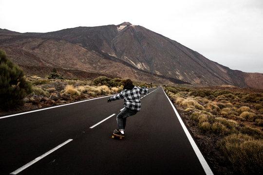 Patinando a los pies del Teide