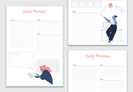 Colorful Illustrative Planner Layout