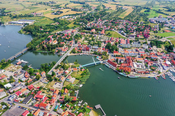 Fototapete - Mikołajki - the city of Mazury in north-eastern Poland
