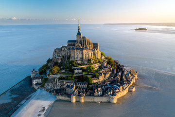 Mont Saint Michel aerial view