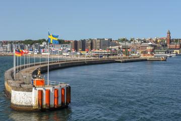 The port of Helsingborg on Sweden