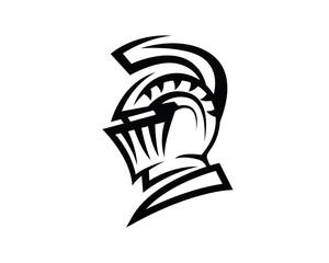 Knight Helmet Silhouette Illustration