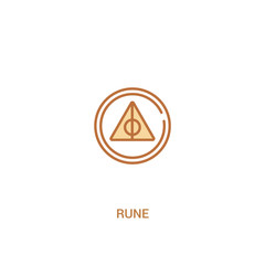 rune concept 2 colored icon. simple line element illustration. outline brown rune symbol. can be used for web and mobile ui/ux.