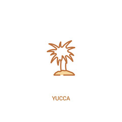 yucca concept 2 colored icon. simple line element illustration. outline brown yucca symbol. can be used for web and mobile ui/ux.