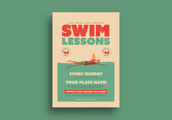 Swim Lessons Flyer Layout
