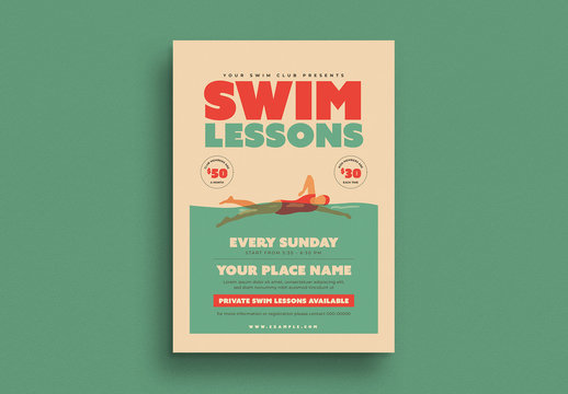 Swim Lessons Flyer Layout