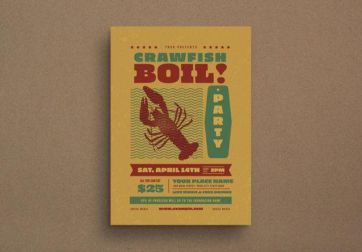 Crawfish Boil Event Flyer Layout