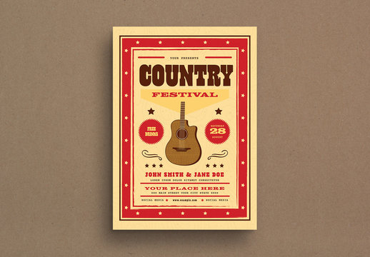 Country Festival Event Flyer Layout