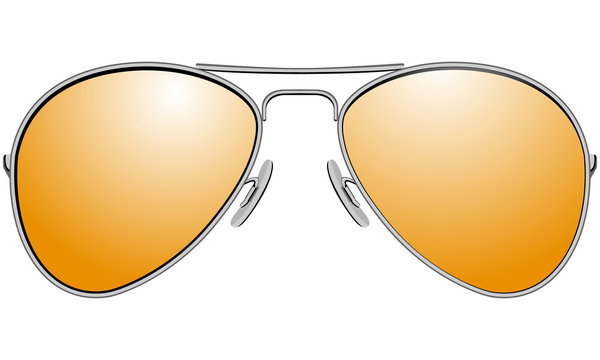 Sunglasses in metal frame aviator model