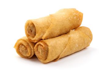 Fototapeta Spring rolls, Chinese cuisine, isolated on white background obraz