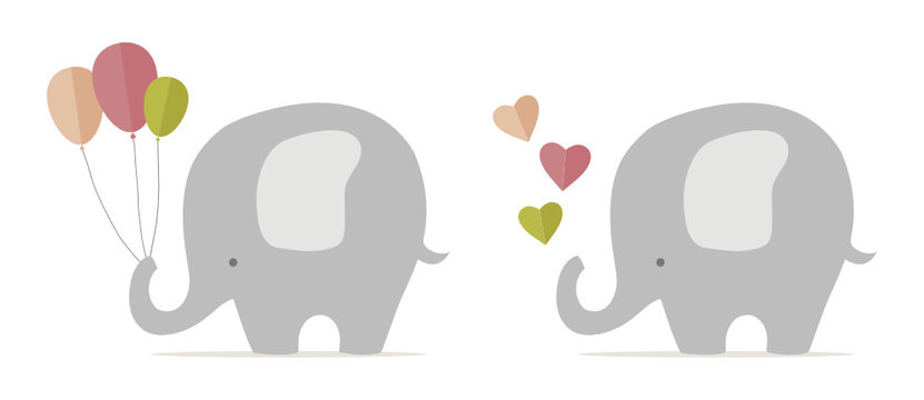 Cute baby elephant, nursery stuff