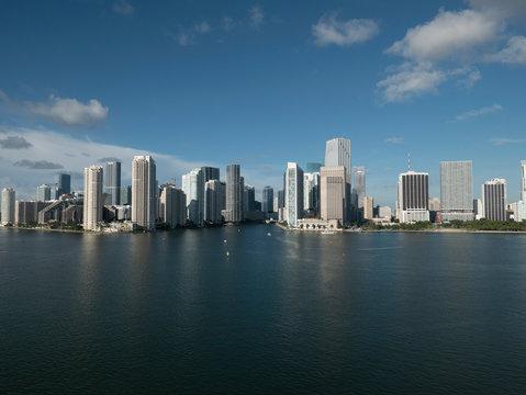 Sunny cityscape view of Miami, Florida, USA