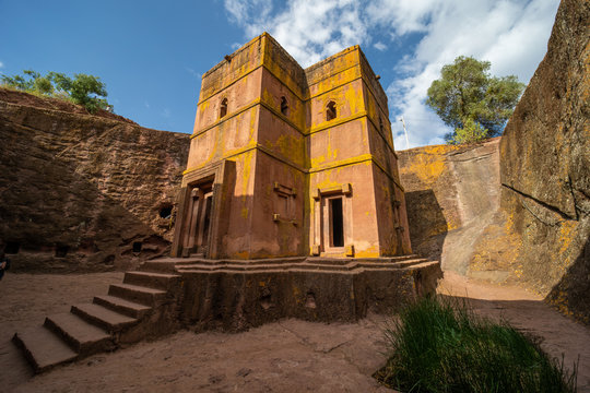 The Church of Saint George (Amharic: Bete Giyorgis) is one of eleven rock-hewn monolithic churches in Lalibela, a city in the Amhara Region of Ethiopia.