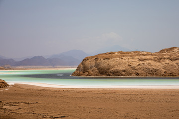 Lake Assal in Djibouti is the lowest point in Africa.