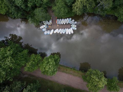 Boats at Pavlovsky Park, Pavlovsk, St. Petersburg, Russia
