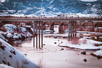 Bear River Dam in Winter