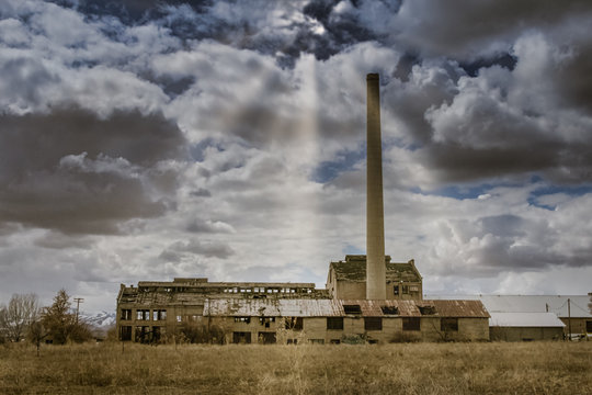 The Sky Opens Above Abandoned Franklin County Sugar Factory