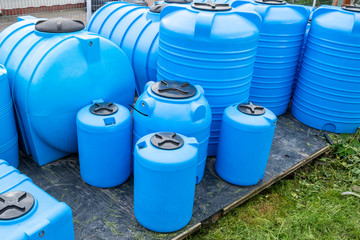 plastic barrels for drinking water, water storage tanks
