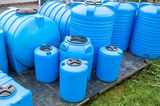 plastic barrels for drinking water, water storage tanks