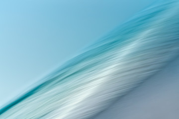 Surf. Line Art, Abstract Background Seascape, Motion Blur, Long Exposure. Blue, Turquoise Colors Fototapete