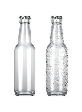 Empty Clear Beer Bottle