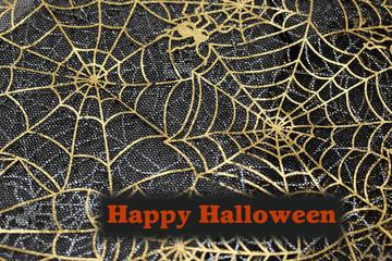 ハロウィンの背景 クモの巣チュール