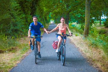 Radfahrer Paar
