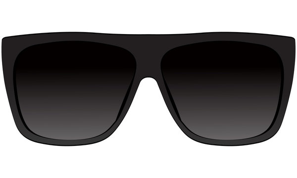 Sunglasses woman in black frame classic model