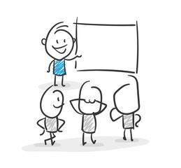 Stickman Blue: Presentation, Lesson, School. (Nr. 25)