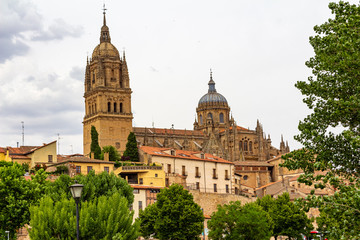 Poster de jardin Barcelone View of the Cathedrals of Salamanca