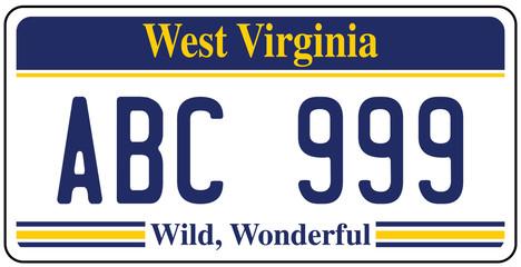 Vehicle registration plates of West Virginia