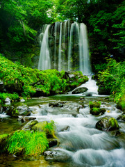 Poster de jardin Cascades Beautiful Fall in Japan