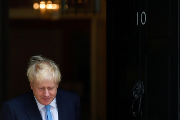 Britain's Prime Minister Boris Johnson meets with King Abdullah II of Jordan in London