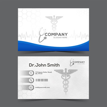 Medical healthcare or hospital and business card template.
