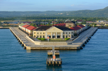 Cruise Port in the morning at Falmouth, Jamaica.