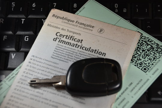 """French car registration certificate or """"gray card"""" (""""carte grise"""" in french)"""