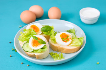 Leckere Butterbrote mit Ei