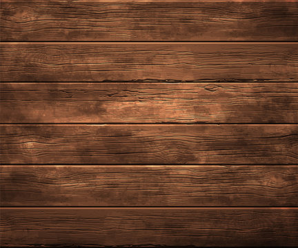 Background, texture of old wood. Highly realistic illustration.
