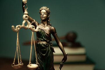 lady justice with  book