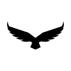 Falcon soaring rising Wings Logo design vector template.Luxury corporate heraldic flying Eagle Phoenix Hawk bird