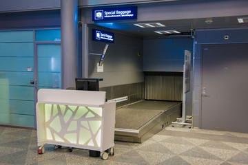Luggage check-in spot for special baggage
