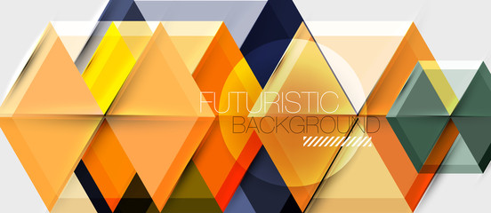 Hexagon abstract background, geometrical modern template Wall mural