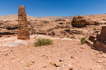 View of The High Place Of Sacrifice Trail in Petra, Jordan