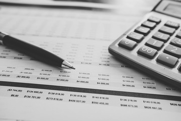 close up image of a budgeting spreadsheet