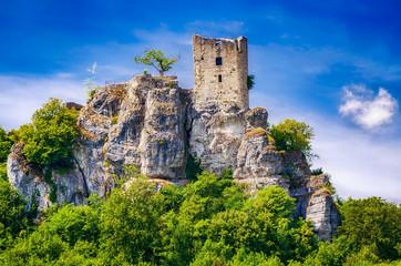 Burg Neideck über dem Wiesenttal bei Forchheim, Bayern