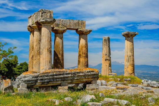 Apollo Temple in ancient Corinth